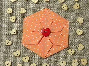 Брошка из шестиугольника. Ярмарка Мастеров - ручная работа, handmade.