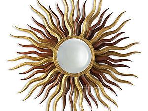 Зеркала в интерьере. Часть 1: зеркало-солнце | Ярмарка Мастеров - ручная работа, handmade