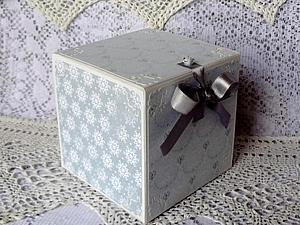 Создаем коробочку для новогоднего шарика. Ярмарка Мастеров - ручная работа, handmade.