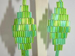 Делаем яркие серьги из стекляруса. Ярмарка Мастеров - ручная работа, handmade.