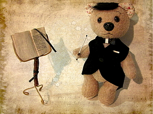 Мишка Дирижер на Главной странице Ярмарки | Ярмарка Мастеров - ручная работа, handmade