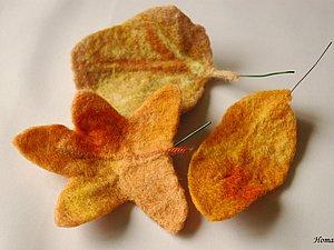 Мастер-класс по осенним листьям. Ярмарка Мастеров - ручная работа, handmade.