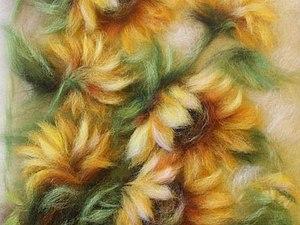 Фотообзор по живописи шерстью. Рисуем