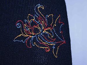 Вышивание по вязаному