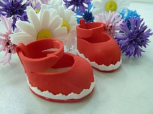 Делаем ботиночки из фоамирана. Ярмарка Мастеров - ручная работа, handmade.
