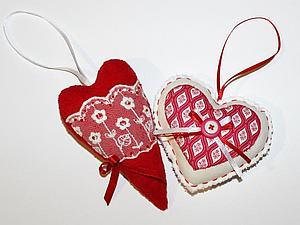 Делаем сердечки-подвески | Ярмарка Мастеров - ручная работа, handmade