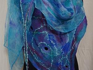 Валяем на шёлке  шарфик (новичкам) | Ярмарка Мастеров - ручная работа, handmade