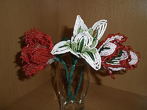 Как сделать бахромчатый край у тюльпана из бисера. Ярмарка Мастеров - ручная работа, handmade.
