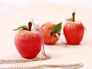 Яблочки из пластики своими руками. Ярмарка Мастеров - ручная работа, handmade.