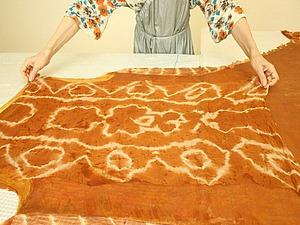 Луковая история: крашение шелка и валяние сарафана | Ярмарка Мастеров - ручная работа, handmade