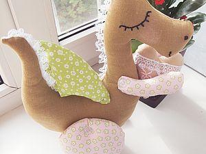 Текстильная Дракоша | Ярмарка Мастеров - ручная работа, handmade