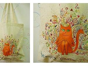 Мастер-класс Роспись эко-сумки. | Ярмарка Мастеров - ручная работа, handmade