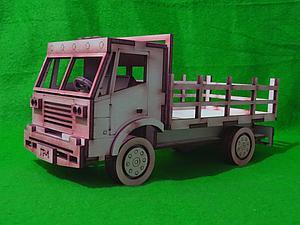 Видео мастер-класс: клеим деревянный грузовик. Ярмарка Мастеров - ручная работа, handmade.