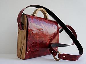 Делаем сумку из дерева и кожи. Часть 2. Ярмарка Мастеров - ручная работа, handmade.