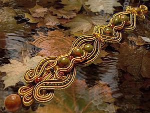 Мастер-класс: Осенний браслет в сутажной технике. Ярмарка Мастеров - ручная работа, handmade.