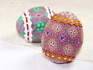 Декоративное яйцо из полимерной глины. Ярмарка Мастеров - ручная работа, handmade.