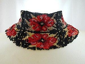Плетение украшения из бисера на станке | Ярмарка Мастеров - ручная работа, handmade