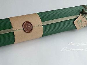 Стильная упаковка-тубус без утомительных расчетов | Ярмарка Мастеров - ручная работа, handmade
