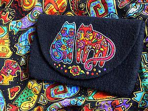 Создание рисунка на валяном клатче по мотивам творчества Лорел Берч | Ярмарка Мастеров - ручная работа, handmade