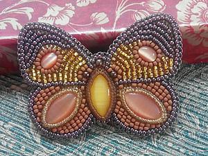 Аукцион на брошь-бабочку! | Ярмарка Мастеров - ручная работа, handmade