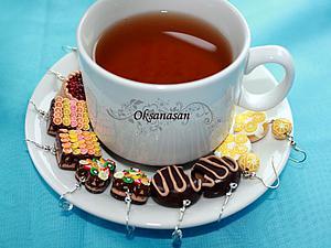 Лепим шоколадные тортики с фруктами из полимерной глины. Ярмарка Мастеров - ручная работа, handmade.