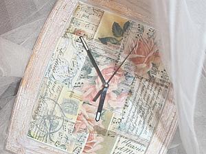 """Декорирование часов """"Ноты и розы"""". Ярмарка Мастеров - ручная работа, handmade."""