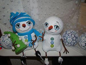 Снежные и нежные,человеки белоснежные) | Ярмарка Мастеров - ручная работа, handmade