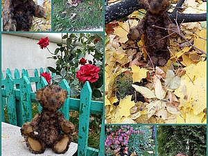 Осенняя прогулка мишки Моти   Ярмарка Мастеров - ручная работа, handmade