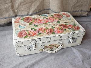Декор старого чемодана своими руками мастер класс