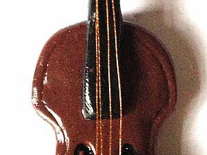 Лепим маленькую скрипку. Ярмарка Мастеров - ручная работа, handmade.