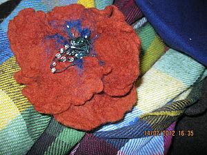 Мои первые валяные цветы | Ярмарка Мастеров - ручная работа, handmade