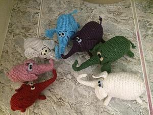 Семейка счастливых слонявок | Ярмарка Мастеров - ручная работа, handmade