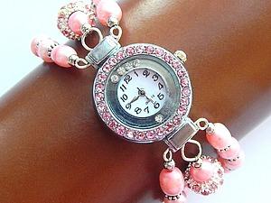 Делаем часы с браслетом из жемчуга . Ярмарка Мастеров - ручная работа, handmade.