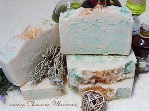 Биоэнергетическое мыло- Полынь Купальская с белой глиной | Ярмарка Мастеров - ручная работа, handmade