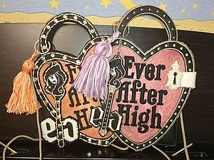 Декоративная фетровая сумочка Aver After High для маленькой модницы. Ярмарка Мастеров - ручная работа, handmade.
