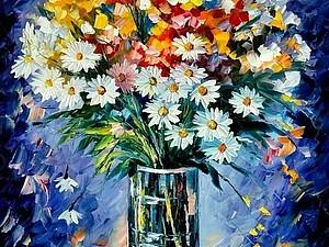 Мастер-класс по живописи. Цветы в стиле Афремова | Ярмарка Мастеров - ручная работа, handmade
