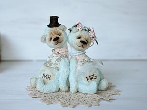 Шьем свадебную пару мишек «Вместе навсегда» | Ярмарка Мастеров - ручная работа, handmade