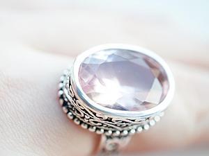 Аукцион!!!Кольцо из серебра 925 пробы со стеклом! | Ярмарка Мастеров - ручная работа, handmade