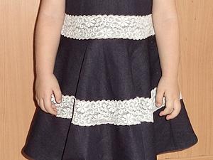 Джинсовое платье   Ярмарка Мастеров - ручная работа, handmade