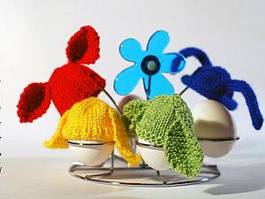 Заячьи шапочки для пасхальных яиц. Ярмарка Мастеров - ручная работа, handmade.