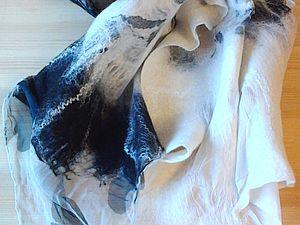 МК  Валяние шарфа на шелке   Ярмарка Мастеров - ручная работа, handmade