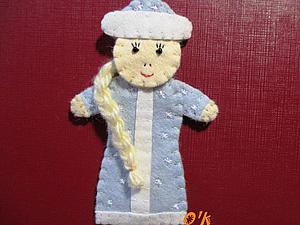 Делаем снегурочку для пальчикового театра. Ярмарка Мастеров - ручная работа, handmade.
