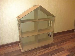 Изменилась цена на кукольный домик из гофрокартона   Ярмарка Мастеров - ручная работа, handmade