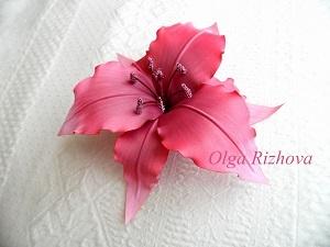 Сборка цветка из ткани ЛИЛИЯ (фото мастер-класс) | Ярмарка Мастеров - ручная работа, handmade