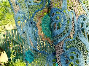Фото-творение пончо Ажурная сказка Эльфов | Ярмарка Мастеров - ручная работа, handmade