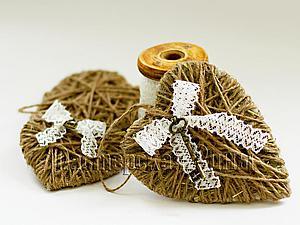 Как сделать милое сердечко с ключиком   Ярмарка Мастеров - ручная работа, handmade