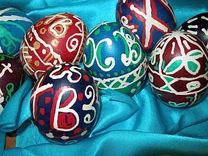 Роспись яиц с помощью воска. Ярмарка Мастеров - ручная работа, handmade.