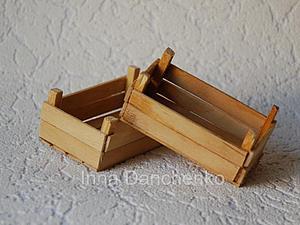 Мастерим миниатюрные деревянные ящики для сбора урожая. Ярмарка Мастеров - ручная работа, handmade.