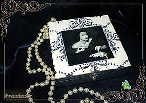 Шкатулка «Флер» в технике декупаж. Ярмарка Мастеров - ручная работа, handmade.