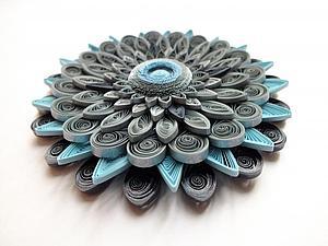Создаем серебристый цветок-магнит. Ярмарка Мастеров - ручная работа, handmade.